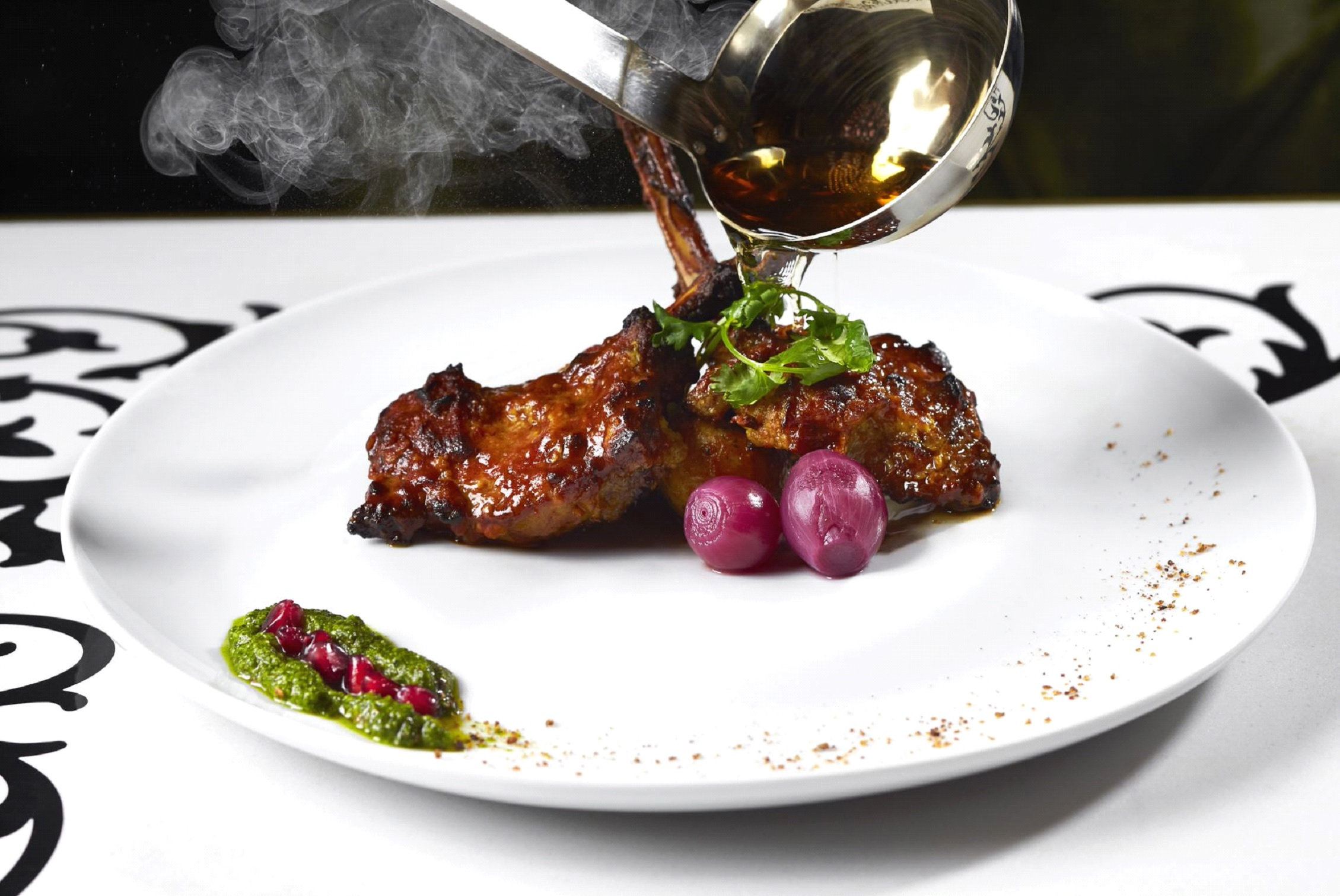 Char Grilled Flaming Lamb Chop